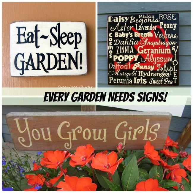 Creative Garden Sign Ideas And Projects Abigal Garden Manage