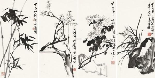 """""""四君子""""梅兰竹菊的的象征意义"""